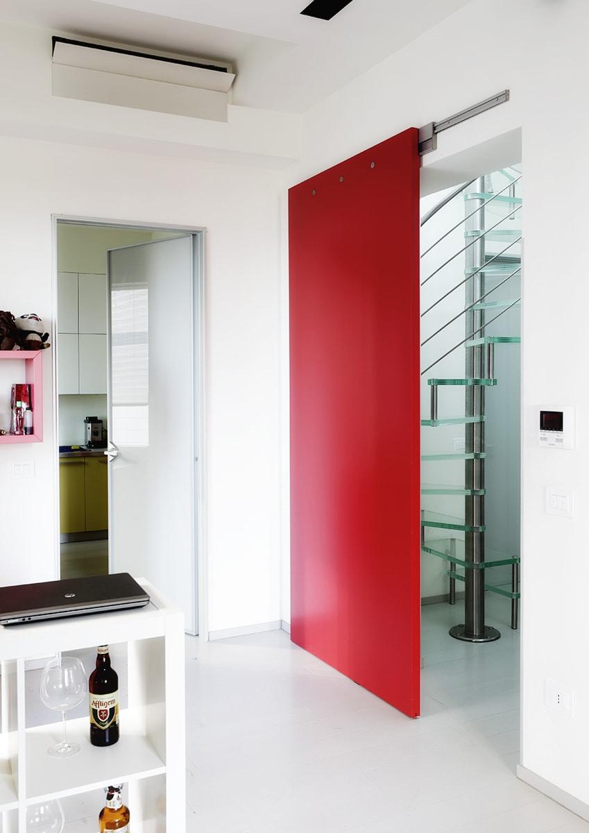 Porta scorrevole interna abitazione privata domosystem - Porta garage scorrevole ...