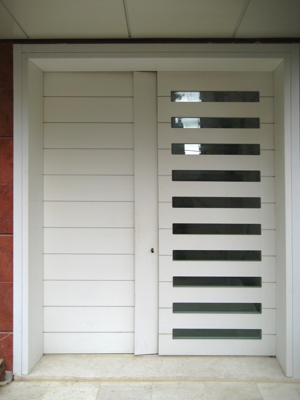 Portone ingresso in legno - Domosystem Pesaro